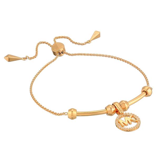 9ba46f7537d56 Michael Kors bracelet Michael Kors Custom Kors Sterling Silver Logo Starter  Bracelet (Rose Gold) logo adjuster bangle (Rose gold) new work regular ...