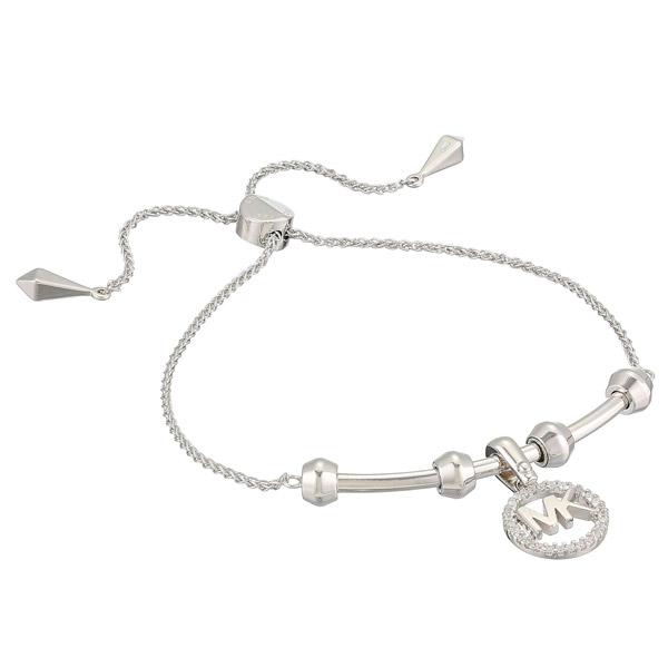 マイケルコース ブレスレット Michael Kors Custom Kors Sterling Silver Logo Starter Bracelet (Silver) ロゴ アジャスター バングル (シルバー) 新作 正規品 レディース ジュエリー ギフト プレゼント