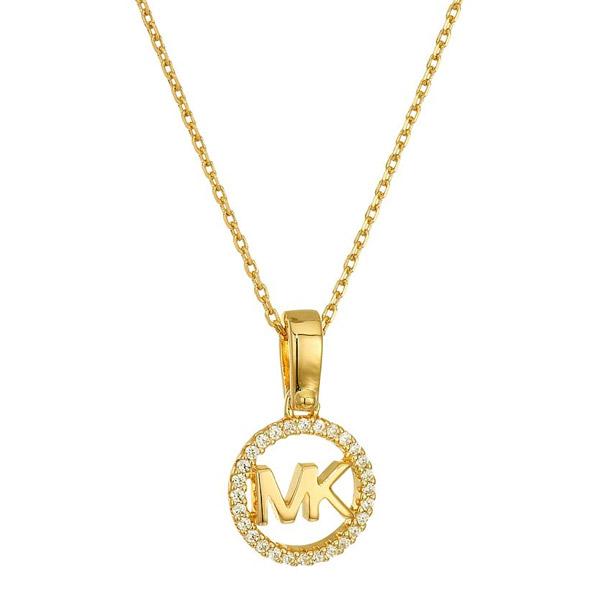 【大特価!!】 マイケルコース ネックレス Michael Kors Custom Kors Sterling Silver Logo Starter Necklace (Gold) MK ロゴ ネックレス (ゴールド) 新作 正規品 レディース ジュエリー ペンダント ギフト プレゼント, 京彩屋 9f31cd04