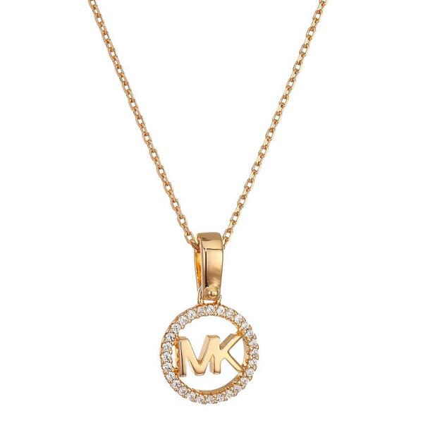 30d4a845db692d Michael Kors necklace Michael Kors Custom Kors Sterling Silver Logo Starter  Necklace (Rose Gold) ...