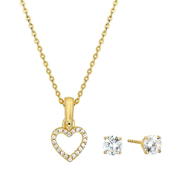 d65c449b380e Michael Kors necklace / pierced earrings Michael Kors MKC1130AN Precious  Metal-Plated Sterling Silver Pave ...