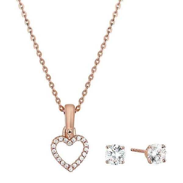 3ba475edc6de3a Michael Kors necklace / pierced earrings Michael Kors MKC1130AN Precious  Metal-Plated Sterling Silver Pave ...