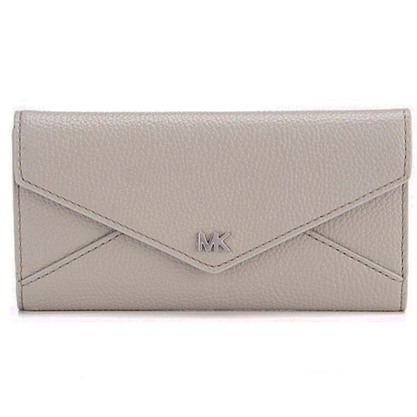 マイケルコース 長財布 Michael Michael Kors 32S9SF6E3TLarge Two-Tone Pebbled Leather Envelope Wallet (Pearl Grey/Aluminum) エンベロープ レザー ウォレット 財布 (パールグレーマルチ) Slim Envelope Trifold Leather Wallet 新作 正規品 レディース