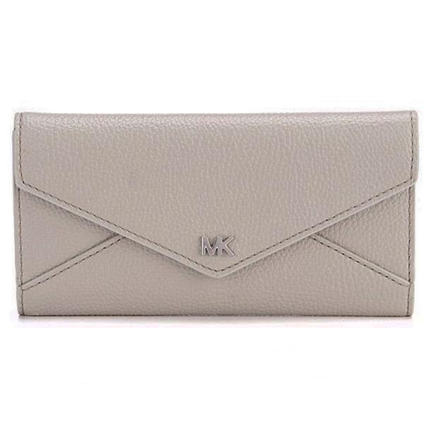 25869f32861b Michael Kors long wallet Michael Michael Kors 32S9SF6E3T Large Two-Tone  Pebbled Leather Envelope Wallet (Pearl Grey Aluminum) envelope leather wallet  wallet ...