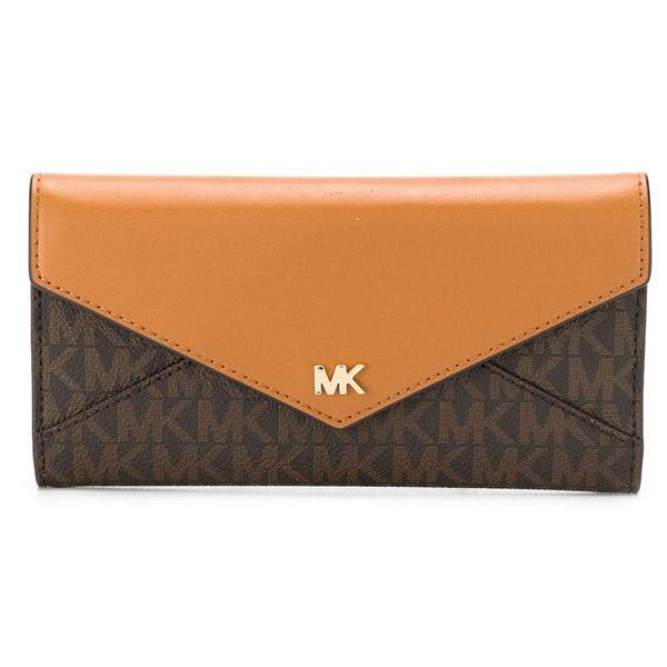 マイケルコース 長財布 Michael Michael Kors 32T9GF6E7BLarge Logo and Leather Envelope Wallet (Brown/Acorn) ラージ ロゴ & レザー エンベロープ 財布 (ブラウン) 新作 正規品 アメリカ買付 レディース 財布 ウォレット