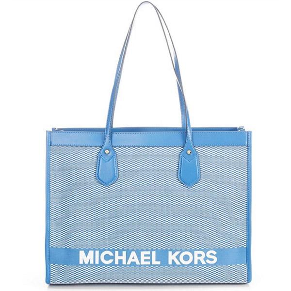 マイケルコース トートバッグ Michael Michael Kors Bay Large East West Tote (Vintage Blue) ラージ トート (ビンテージブルー) 新作 正規品 アメリカ買付 レディース バッグ 通勤 通学