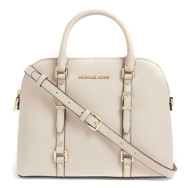 Michael Kors 2WAY bag Michael Michael Kors 30H9G06S8L Bedford Legacy Medium Pebbled Leather Dome Satchel (Soft Pink) medium leather dome Satchell