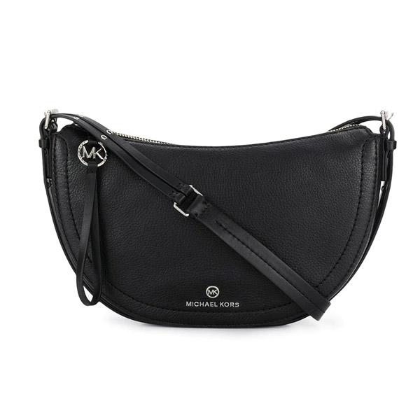 マイケルコース ショルダーバッグ Michael Michael Kors Camden Small Messenger Bag (Black/Silver) スモール レザー メッセンジャーバッグ (ブラック/シルバー) 新作 正規品 アメリカ買付 レディース バッグ クロスボディバッグ