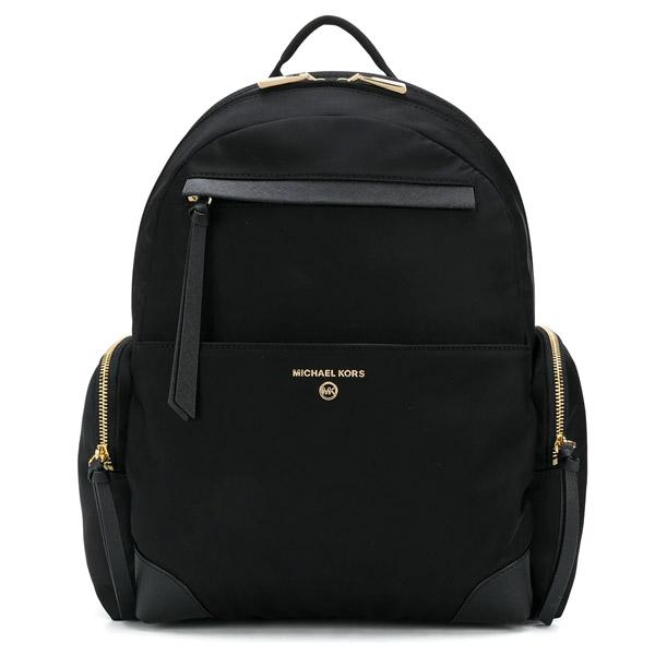 マイケルコース バックパック Michael Michael Kors Prescott Nylon Backpack (Black) ナイロン バックパック (ブラック) 新作 正規品 アメリカ買付 レディース バッグ リュック リュックサック マザーズバッグ