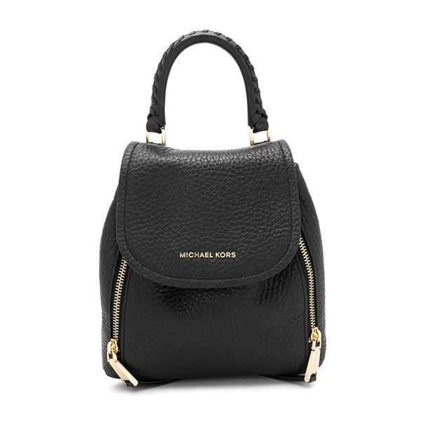 マイケルコース バックパック 30H9GVBB0L Michael Michael Kors Viv Extra-Small Pebbled Leather Backpack (Black) VIV エクストラスモール バックパック (ブラック) 新作 正規品 アメリカ買付 レディース バッグ ミニバッグ リュック リュックサック