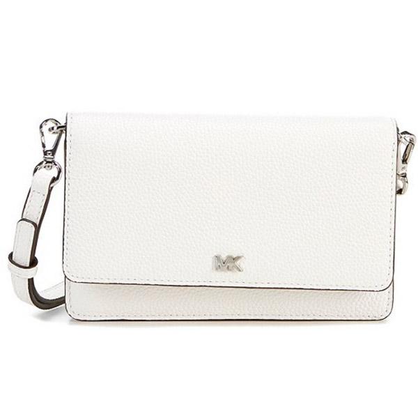 マイケルコース 財布/バッグ 32T8SF5C1L Michael Michael Kors Pebbled Leather Convertible Crossbody Bag (Optic White) MOTT フォン クロスボディ (オプティックホワイト) Pebble Leather Phone Crossbody Wallet 新作 正規品 レディース 長財布 ミニバッグ