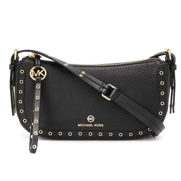 マイケルコース ショルダーバッグ Michael Michael Kors Camden Small Pochette Bag (Black/Gold) スモール ショルダーバッグ (ブラック/ゴールド) 新作 正規品 アメリカ買付 レディース バッグ ハンドバッグ