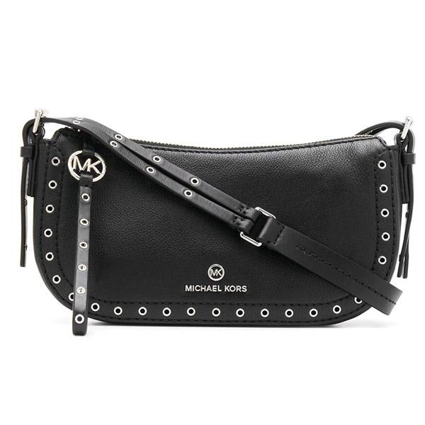 マイケルコース ショルダーバッグ Michael Michael Kors Camden Small Pochette Bag (Black/Sliver) スモール ショルダーバッグ (ブラック/シルバー) 新作 正規品 アメリカ買付 レディース バッグ ハンドバッグ