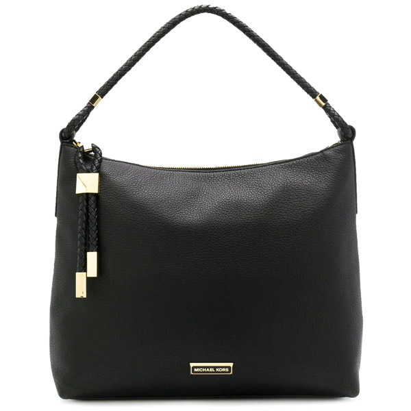 マイケルコース ショルダーバッグ Michael Michael Kors 30T9GNDL3L Lexington Large Pebbled Leather Shoulder Bag (Black) ラージ ペブルドレザー ショルダーバッグ (ブラック) Lexington Leather Shoulder Bag 新作 正規品 アメリカ買付 レディース バッグ