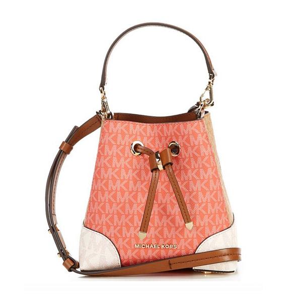 マイケルコース 2WAYバッグ Michael Michael Kors 32S0GZ5C0V Mercer Gallery Extra-Small Color-Block Logo Crossbody Bag (Pink Grapefruit Multi) カラーブロック ロゴ クロスボディバッグ (ピンクグレープフルーツ) 新作 正規品 アメリカ買付 レディース バッグ