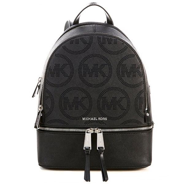 マイケルコース バックパック Michael Michael Kors Rhea Zip Small Leather Backpack (Black) ジップ スモール レザー バックパック (ブラック) 新作 正規品 アメリカ買付 レディース バッグ リュック リュックサック 通勤 通学