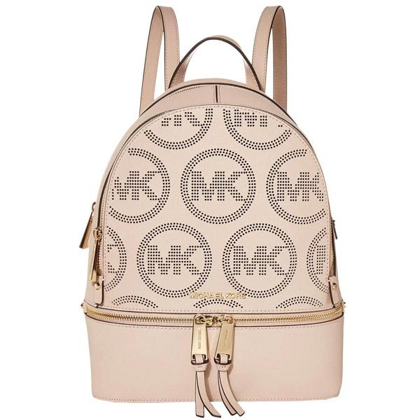 マイケルコース バックパック Michael Michael Kors Rhea Zip Small Leather Backpack (Soft Pink) ジップ スモール レザー バックパック (ソフトピンク) 新作 正規品 アメリカ買付 レディース バッグ リュック リュックサック 通勤 通学