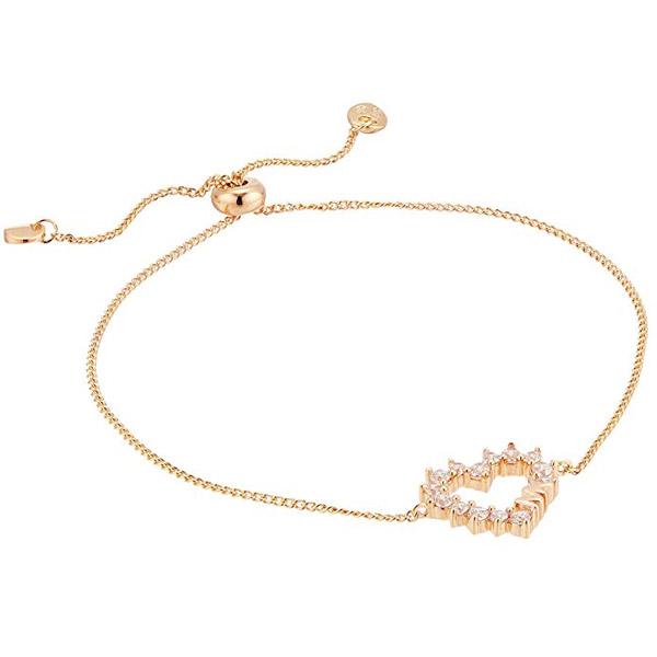 マイケルコース ブレスレット MKC1281AN Michael Michael Kors Precious Metal-Plated Sterling Silver Pave Heart Slider Bracelet (Rose Gold) KORS LOVE パヴェ ハート スライダーブレスレット (ローズゴールド) 新作 正規品 アメリカ買付 レディース ジュエリー