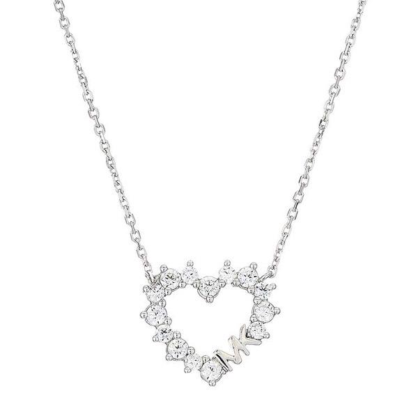 マイケルコース ネックレス MKC1285AN Michael Michael Kors Precious Metal-Plated Sterling Silver Pave Heart Necklace (Silver) KORS LOVE パヴェ ハート ネックレス (シルバー) 新作 正規品 アメリカ買付 レディース ジュエリー アクセサリー プレゼント