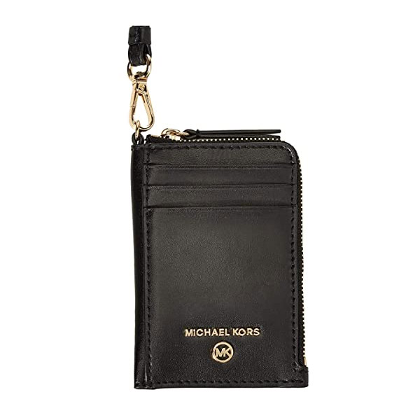 マイケルコース カードケース Michael Michael Kors Jet Set Charm Small Leather ID Lanyard (Black) ジェットセット レザー ID ストラップ (ブラック) 新作 正規品 アメリカ買付 レディース 財布 カードホルダー IDケース コインケース