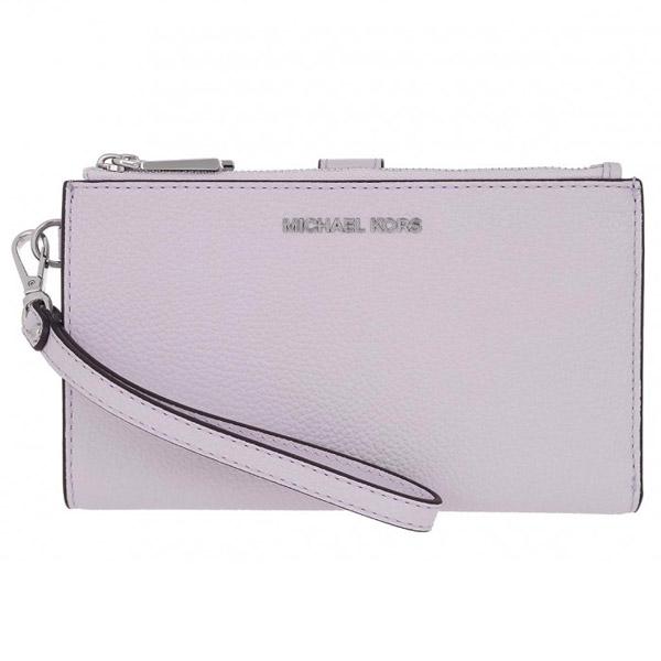 マイケルコース スマートフォンウォレット Michael Michael Kors 32T7SAFW4L Adele Leather Smartphone Wallet (Lavender Mist) レザー スマホ リストレット 財布 (ラベンダーミスト) 新作 正規品 レディース iPhoneケース ウォレット