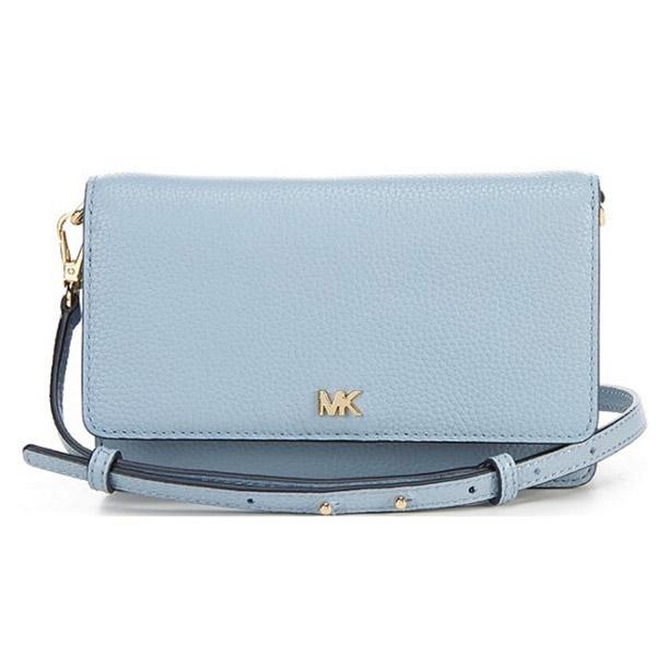 マイケルコース 財布/バッグ 32T8GF5C1L Michael Michael Kors Pebbled Leather Convertible Crossbody Bag (Pale Blue) MOTT フォン クロスボディ (ペールブルー) Phone Wallet Crossbody