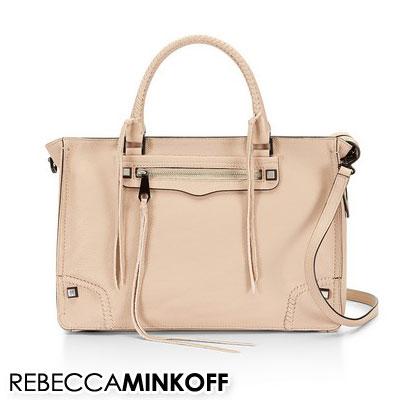 Rebecca Minkoff Bag Las Regan Satchel Latte Leather 2way Autumn Winter Beige Handbag Brand Overseas Celebrity