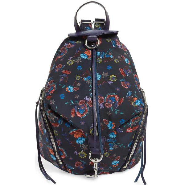 レベッカミンコフ バックパック REBECCA MINKOFF HU18EWNB01Julian Nylon Backpack (FLORAL BLUE) ジュリアン ナイロン リュックサック (フローラルブルー) 海外通販 新作 正規品 アメリカ買付 レディース バッグ リュック 花柄