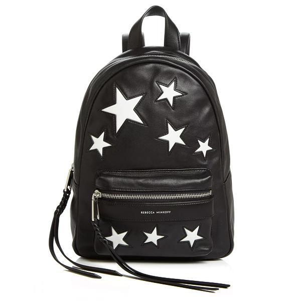 レベッカミンコフ バックパック REBECCA MINKOFF MAB Small Multi-Star Backpack (Black/Silver) スモール マルチスター バックパック (ブラック) 海外通販 新作 正規品 アメリカ買付 レディース バッグ リュック リュックサック 星