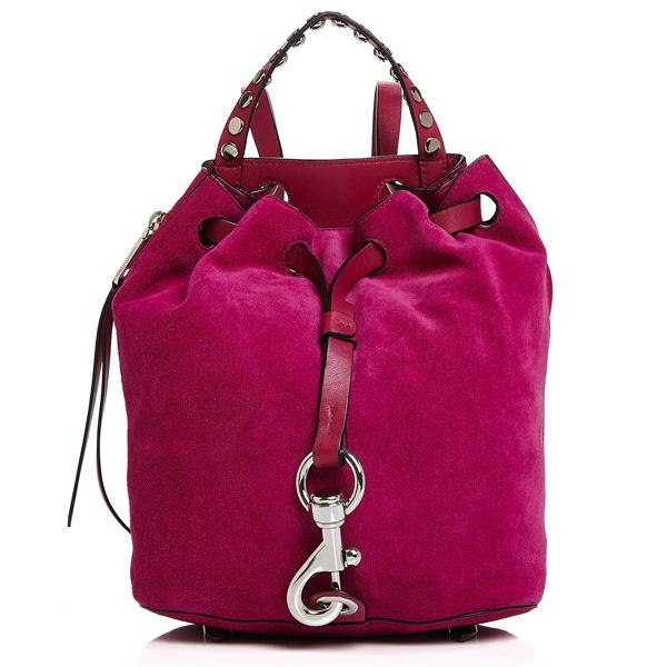 レベッカミンコフ バックパック REBECCA MINKOFF HF18EBSB85Blythe Small Backpack (Magenta Pink/Silver) スモール スエード バックパック (マジェンタピンク) Blythe Small Suede Backpack 新作 正規品 アメリカ買付 レディース バッグ リュック リュックサック