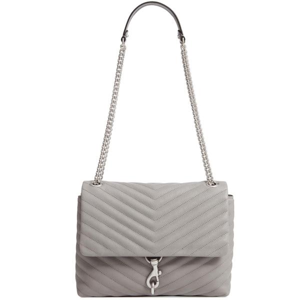 レベッカミンコフ ショルダーバッグ REBECCA MINKOFF HF18EEQD37Edie Flap Shoulder Bag (Grey) レザー フラップ ショルダーバッグ (グレー) Edie Flap Quilted Leather Shoulder Bag 新作 正規品 アメリカ買付 レディース バッグ チェーンバッグ