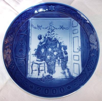 ロイヤルコペンハーゲン Royal CopenhagenChristmas Plate 2000イヤープレート 2000年 【送料無料_spsp1304】 ロイヤル・コペンハーゲン アンティーク 【中古】