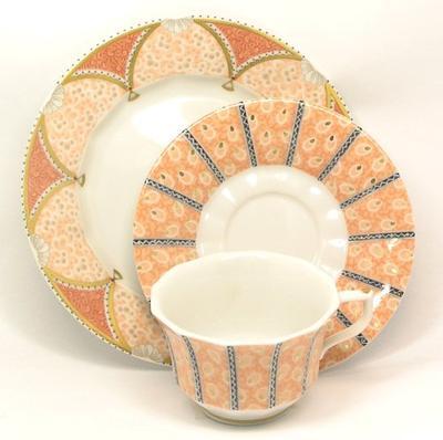 皇家哥本哈根Royal Copenhagen童話故事Fairytale摩卡茶杯&盤子+蛋糕盤子安排A(粉紅)皇家哥本哈根復古
