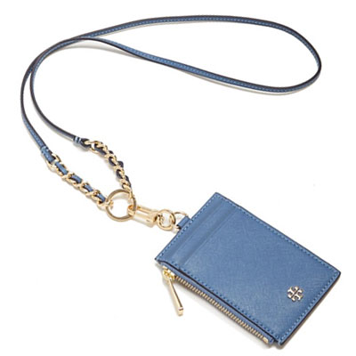 promo code ee532 d3f45 Tory Burch card Tory Burch Robinson Lanyard Card Case CASE (Wallis  Blue/Gray) Robinson chain strap with card (blue) new genuine USA imported  from ...