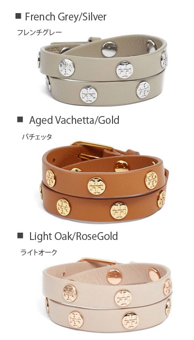 Tolly Birch Tory Burch Bracelet Double Wrap Logo Lap Leather All Three Colors 11165816 New Work Regular Article Usa