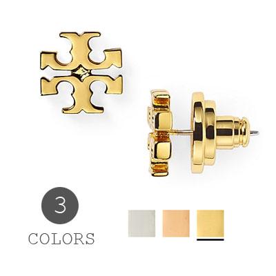 トリーバーチ Tory Burch ピアスLogo Stud Earrings ロゴ スタッズ イヤリング/ピアス(全3色) 新作 正規品 USA直輸入 アメリカ買付 ジュエリー 11165504