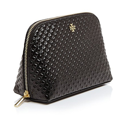 Tory Burch Cosmetic Pouch Marion Embossed Patent Case Bag