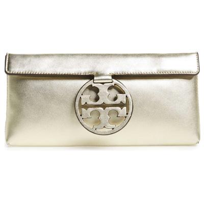 17999ec81 Tolly Birch clutch Tory Burch 46232 MILLER CLUTCH (Gold) mirror leather clutch  bag (gold) Miller Leather Clutch new work regular article United States ...