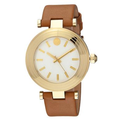 トリーバーチ 腕時計 Tory Burch TBW9002Classic T Light Brown Leather Strap Watch 36mm (Luggage) レザーストラップ ウォッチ 時計 (ラゲージ) 新作 正規品 アメリカ買付 レディース ジュエリー ギフト プレゼント