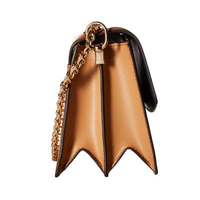 toribachishorudabaggu Tory Burch 38708 Parker Leather Convertible Shoulder Bag(Cardamom/Royal Navy)Parker皮革鏈子挎包(小豆蔻)新作品正規的物品USA直接進口美國購置女士包鏈子包交叉身體書皮革