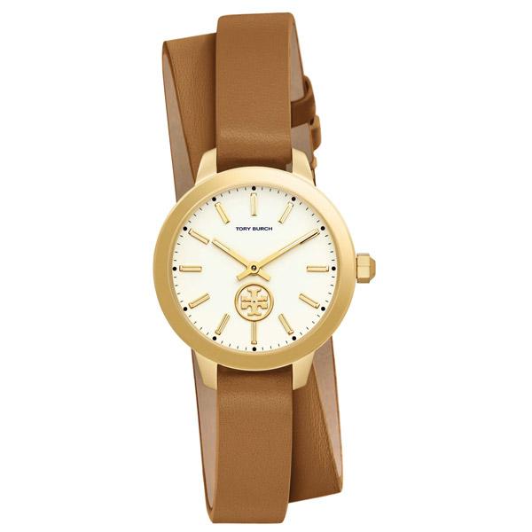 トリーバーチ 腕時計 Tory Burch TBW1304Collins Double Wrap Watch, 32mm (Luggage) ダブルラップ レザーストラップ 腕時計 (ラゲージ) 新作 正規品 USA直輸入 アメリカ買付 レディース ウォッチ 時計 ギフト プレゼント