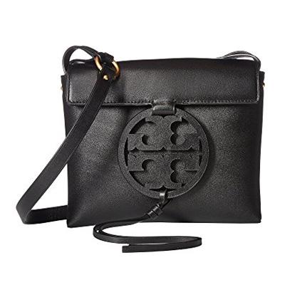 トリーバーチ ショルダーバッグ 47123 Tory Burch MILLER CROSS-BODY (Black) ミラー レザー クロスボディバッグ (ブラック) Miller Leather Crossbody Bag 新作 正規品 アメリカ買付 レディース バッグ メッセンジャー ポシェット 斜め掛け ミニバッグ