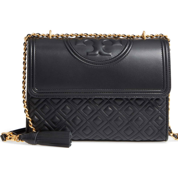 Tolly Birch Shoulder Bag Tory Burch 43833 Fleming Convertible Black Gold New Work Regular Article