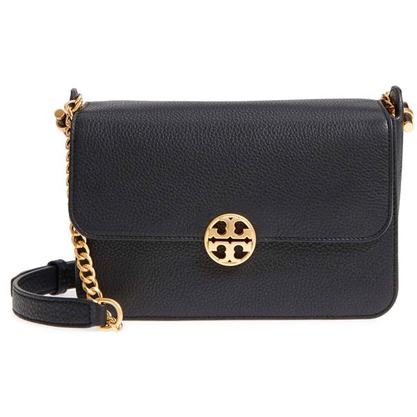 5eae81c07580 Tolly Birch shoulder bag Tory Burch 48731 CHELSEA CROSS-BODY (Black) leather  logo ...