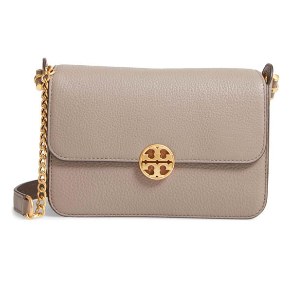 d048189424f4c Tolly Birch shoulder bag Tory Burch 48731 CHELSEA CROSS-BODY (Gray Heron)  leather logo crossbody bag (gray) Chelsea Leather Crossbody Bag new work  regular ...