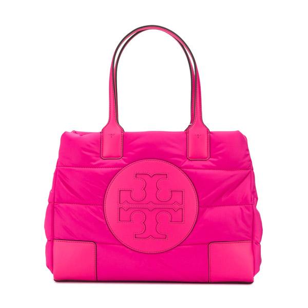 トリーバーチ トートバッグ Tory Burch 60983ELLA MINI PUFFER TOTE (Bright Pink) エラ ミニ パファー トート (ブライトピンク) 新作 正規品 アメリカ買付 レディース バッグ 通勤 通学 ハンドバッグ