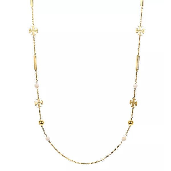 トリーバーチ ネックレス Tory Burch 60319KIRA ROSARY (Tory Gold / New Ivory) ロザリー ネックレス (ゴールド/アイボリー) Kira Rosary Necklace, 36