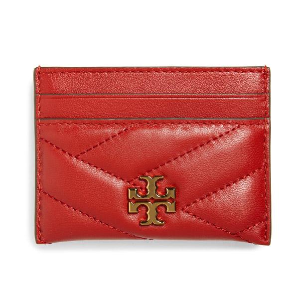 トリーバーチ カードケース Tory Burch 56815 KIRA CHEVRON CARD CASE (Red Apple) キラ シェブロン レザー カードケース (レッドアップル) Kira Chevron Leather Card Case 新作 正規品 レディース 財布 コンパクト カードホルダー