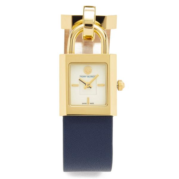 トリーバーチ 腕時計 Tory Burch TBW7002Surrey Leather Strap Watch 22x24mm (Navy) レザー ブレスレット ウォッチ 時計 (ネイビー) ★ 新作 正規品 アメリカ買付 レディース ジュエリー ギフト プレゼント 腕時計