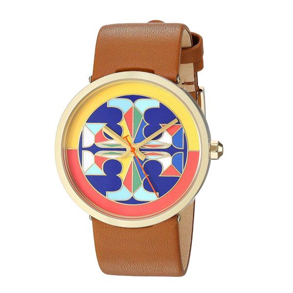 トリーバーチ 腕時計 Tory Burch TBW4040REVA WATCH, LUGGAGE LEATHER/MULTI-COLOR, 36 MM (Luggage/Multi) レザーストラップ ウォッチ 時計 (ラゲッジ) Reva Leather Strap Watch, 36mm 新作 正規品 アメリカ買付 レディース ジュエリー アクセサリー ギフト プレゼント